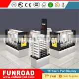 glass wall showcase glass showcase design eyewear acrylic rod desplay for shopping mall display showcase