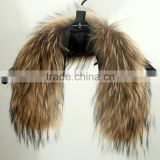 Natural Raccoon Fur For Hood / Real Fur Collar / Chinese Raccoon Fur Trim