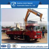 XCMG 8 ton straight arm/folding arm crane truck, mobile truck with crane of Dongfeng brand Chinese best sale