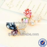 2014 China Wholesale Lovely 925 Sterling Silver Austrian Crystal Diamond Butterfly Brooch