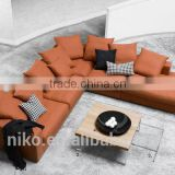 Fire bird soild wood construction high quality feather fabric sofa set