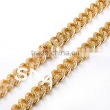 12mm width Copper plating 18K IPG gold filled cuban,Hot selling Bling bling cuban link chain necklace and bracelets top quality                                                                         Quality Choice