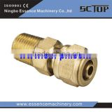 High quality pneumatic fitting air flow control valve copper material fitting pipe fitting