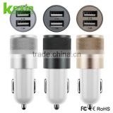 Free OEM Custom USB Car Charger 5V 2.1A Dual Port Portable Mobile Phone Charger Adaptor                                                                         Quality Choice
