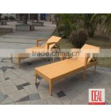 PE Rattan Synthetic Plastic Wicker Garden Furniture Chaise Lounge / Garden Lounge Rattan Bed Set / Beach