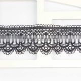 Latest Design Fashion Fancy Black Lace Trim in Rolls for Apparel S10534F02