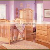 Solid Wood Crib Bed