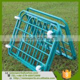 Sports Equipment Foldable basketball trolley , ball removable storage carts , folding trolley