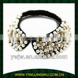 Black Pearl & Gold Bead Collar necklace jewels