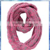 Women space dye cable knit personalized infinity scarf /waffle knit infinity scarf /cable knit infinity scarf