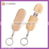 Hot selling mini key ring 2gb bulk flash drive wood cheap usb stick with logo customized