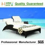 All weather outdoor rattan double sun lounger