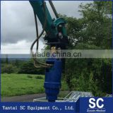 Excavator attachment ground screw machine pile driver Best Selling