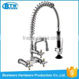 factory OEM&ODM stainles steel industrial wall mounted pre-rinse spring loaded kitchen sink mixer tap faucets