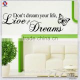 Made In China Artistic Design Eco-Friendly PVC Waterproof Removable Bedroom Decor 3d Wall Stickers
