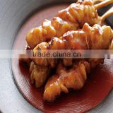 Frozen Grilled BBQ Chicken Kebabs Mixing with Spices Soup