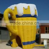 Giant Inflatable Beer Mug Tent for Advertising Decoration