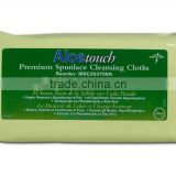 aloe touch premium spunlace cleaning wet wipe /wet towel /wet tissue