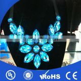 New fashion hotfix rhinestone bead neck applique