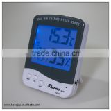 New Indoor back light thermometer hygromometer with alarm clock