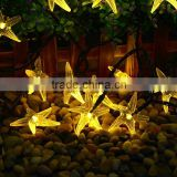 Colorful solar powered christmas decorating led christmas light decorating starfish led lights