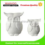 Custom Made Porcelain Owl Statue For Candle Holder