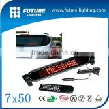 12v led moving message display sign led display sign for bus stop 7*50 taxi xxx photo