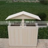 Beautiful dustbin WPC trash can for waste separation and collection