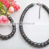 Europe and the United States exclusive jewelry set nylon mesh chain Gun black CCB beads restoring ancient jewelry set