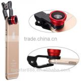 Universal Clip-on 3 in 1 Fisheye Wide Angle Micro Camera Lens for mobile phone at factory price ! ! !