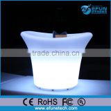 rgb color changing led rechargeable wedding and party plastic drink buckets