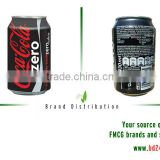 Coca-Cola Zero 330ml products/drinks in cans
