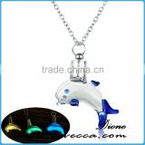 Fish Locket Glow In The Dark Pendant Glowing Luminous Light Up Christmas Necklaces
