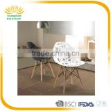 Top quality simple design special plastic moon chair with beech legs