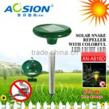 Aosion Improved Outdoor Garden Yard Farm Solar Snake repeller with LED light and battery case AN-A816D