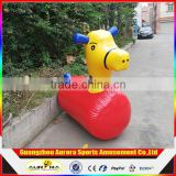 Funny and exciting Inflatable Pony giant horse racing for grounp sports