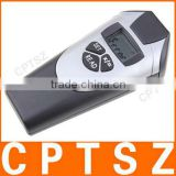 High precision ultrasonic distance meter with laser pointer and calculator