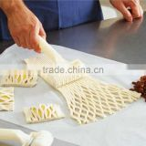 Baking Tool Plastic white Pie Pizza Pastry Lattice Cookie tool Roller Cutter Craft big size high quantity pastry tools