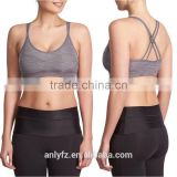 Women's athletic tank top breathable sports wear comfortable ladies padded sports bra seamless