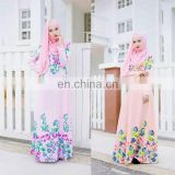 New model maxi dress muslimah jubah 2016 fashion digital printing jubah