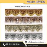 New Market Arrival Embroidery Lace For Dress Border By Maxim Creation