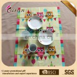 Customized Disposable Recycled PE Plastic Placemats table mat for babies