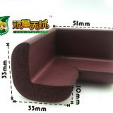 Eco-friendly High Durable Foam Corner Protector Coffee Color OEM