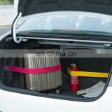 Elastic hook and loop fasten fixed car trunk strap