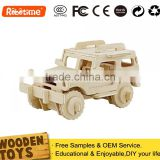 Mini Jeep For Kids Educational Wooden DIY Puzzles