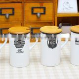 Korean EXO biology cup contracted grind arenaceous wooden cover cup Ceramic cup Mug cup exobiology combination