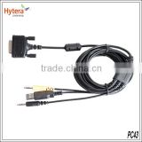 china new DB26 plug line scheduling (USB port & double audio head) PC43 for MD780 walkie talkie