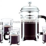 Hot sale French Press Set,chrome plated Coffee French Press Set,French Press Set With Cup 200ml