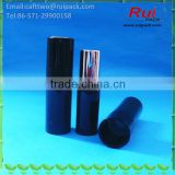 Black round lipstick tube with gold inner, cosmetic empty lip stick tube with all cover cap