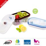 China Factory Silicone food container, Foldable Lunch Box BPA FREE, Portable Travel container, Non-stick,, FDA, LFGB